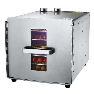 Deshydrateur Inox 6 grilles de 29/29 cm à commande mécanique 500W. Port offert ! Garantie jusq'à 7 ans !