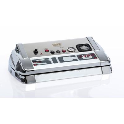 SICO S-LINE 350C Corps Inox et  Alu. 700 Watt. TRIPLE barre de soudure 35 cm, Pompe 25 litres / min. Régulateur de pression. Vide - 925mb. Port offert. Prog Fidélité 35€ sur un prochain achat !