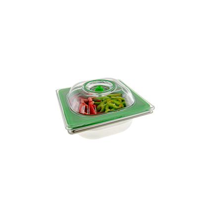 Boite sous vide Inox 1 L à 3 L, (17,6 cm par 16,2 cm = bac gastro 1/6). CHOIX DE LA PROFONDEUR 6,5 cm à 20 cm, qualité professionnelle