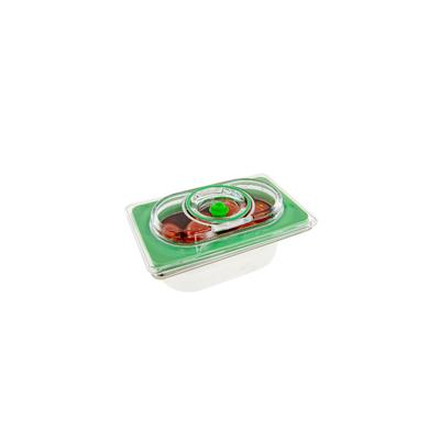 Boite sous vide Inox 0,6 L à 1,5 L (17,6 cm par 10,8 cm = bac gastro 1/9). Choix de la profondeur 6,5 cm à 15 cm, qualité professionnelle