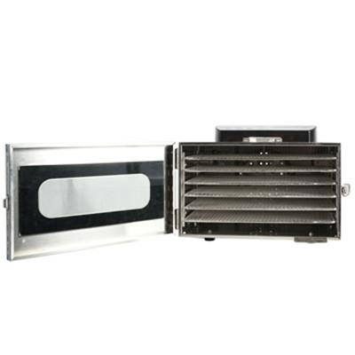 Deshydrateur Inox 6 grilles de 28/20 cm à commande digitale 400W. Port Offert ! Garantie jusqu'à 5 ans !