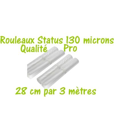 Rouleaux Gaufrés 28 cm par 3 mètres. Top qualité Professionnelle 100/130 microns. Prix dégressifs jusqu'à -25%. Bénéficiez automatiquement de notre Programme de Fidélité ! 100% compatible avec toutes les machines.