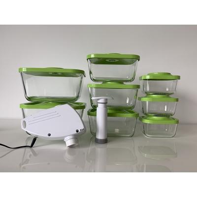 Kit Status premium comprenant : 3 boites 0,5 litres + 3 boites 1,5 litres + 2 boites 3 litres + pompe électrique + pompe manuelle Status -  coloris vert pomme