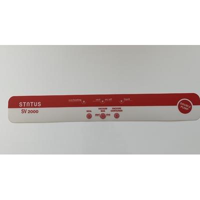 Panneau de commandes SV2000 rouge