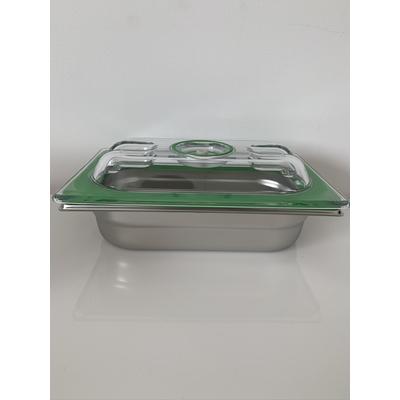 Boite sous vide Inox 26,5cm / 16,2cm (bac 1/4). 6 HAUTEURS DE BACS AU CHOIX (2 cm à 20 cm) : 0,5 L à 5,5 L