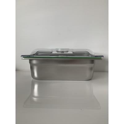 Boite sous vide Inox 32,5 cm / 17,6 cm (bac 1/3). 6 HAUTEURS DE BACS AU CHOIX (2 cm à 20 cm) : 0,75 L à 7 L