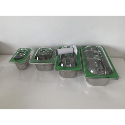 Lot complet INOX 4 boites : 1 boite 1 L + 1 boite 1,6 L + 1 boite 2,8 L + 4,5 L + la pompe manuelle. Bénéficiez de 20% de REMISE sur la Pompe ASPIPRO  et la grande boite 6,5 L (32,5/26,5)
