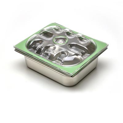 Boite sous vide Inox 32,5 cm / 26,5 cm (bac 1/2). 6 HAUTEURS DE BACS AU CHOIX (2 à 20 cm) : 1,2 L à 11,65 L