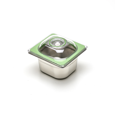 Boite sous vide Inox 17,6 cm par 16,2 cm (bac 1/6). 4  HAUTEURS DE BACS AU CHOIX (6,5 cm à 20 cm) : 1 L à 3 L