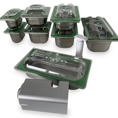 Lot PREMIUM INOX 8 boites + pompe manuelle + Pompe Aspipro 350 (ou Aspipro 500 en remplacement pour seulement 15€ de plus !!!) . En option : Bénéficiez de 40% de REMISE sur la grande boite 6,5 L (32,5/26,5)
