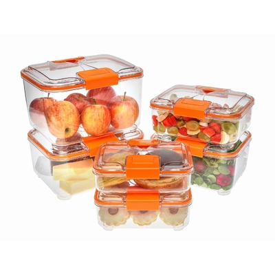 Lot de 6 boites Rectangulaires transparentes Design Plus, sans BPA (0,75 litre ; 1 litre ; 1.5 litres ; 2 litres ; 3 litres ; 4 litres)