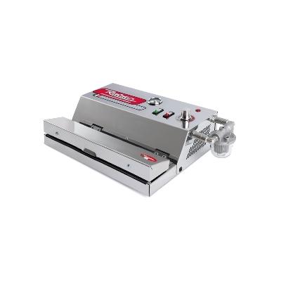 Machine sous vide Inox Professionnelle avec filtre de liquides. Barre de soudure 43 cm. Depression 900 mb.Aspiration 40 litres minutes. Filtre liquides.