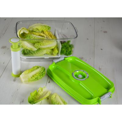 boite a salade sous vide fournie avec sa pompe grille de fond votre salade restera fraiche. Black Bedroom Furniture Sets. Home Design Ideas