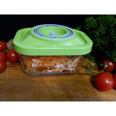 Boite sous vide en verre status 1,5 litres - coloris vert pomme ou blanc