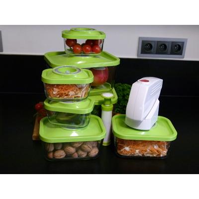 Kit Status premium comprenant : 3 boites 0,5 litres + 3 boites 1,5 litres + 2 boites 3 litres + pompe électrique + pompe Aspiplus -  coloris vert pomme