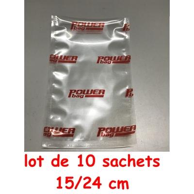 Lot de 10 Sacs powerseal 15cm/24cm (longueur) pour baguette Powereseal 17cm ou Anylock 18/22 cm
