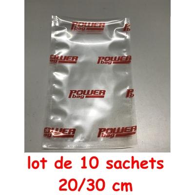 Lot de 10 Sacs powerseal 20cm/30cm (longueur) pour baguette Powereseal 22cm ou Anylock 22 cm