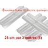 8 rouleaux sous vide 25 cm