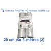 2 rouleaux foodvac 20cm par 3 mètres