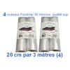 4 rouleaux foodvac 20cm par 3 mètres