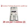 2 rouleaux foodvac 28cm par 3 mètres