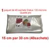 1 paquet 40 sachets status 15cm-30cm