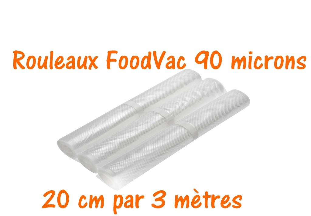 rouleaux foodvac 20 cm par 3 mètres