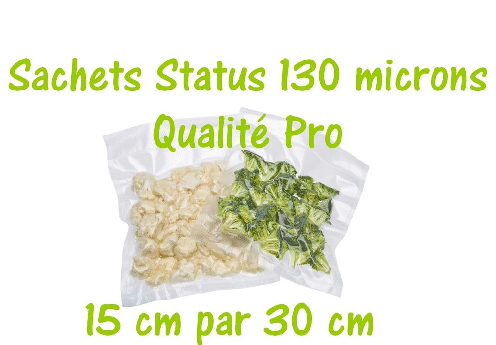 sachets status 15 cm par 30 cm