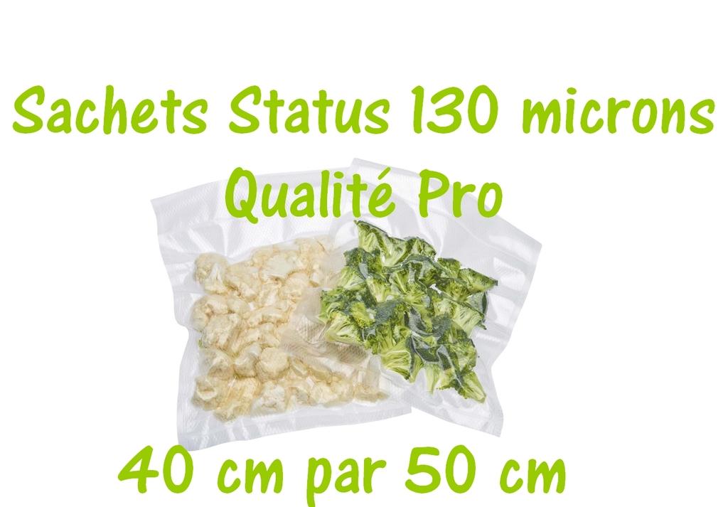 sachets status 40 cm par 50 cm