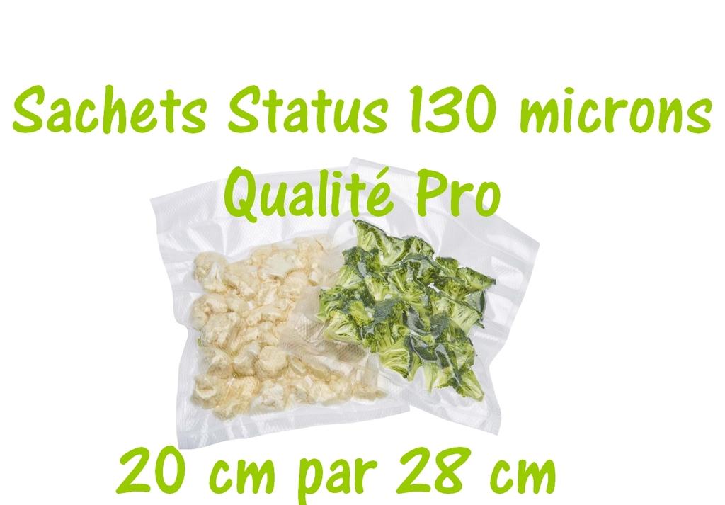 sachets status 20 cm par 28 cm