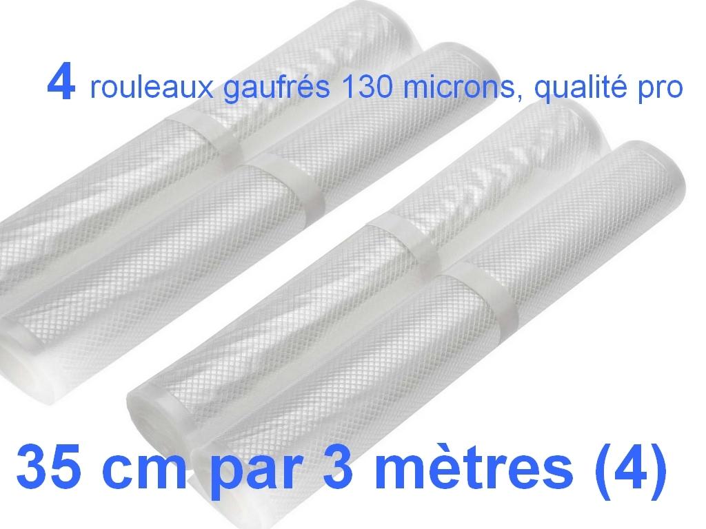 4 rouleaux sous vide 35 cm