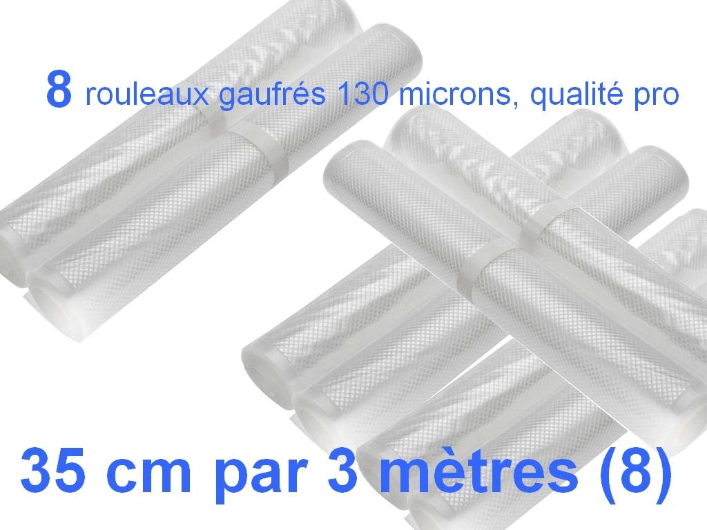 8 rouleaux sous vide 35 cm