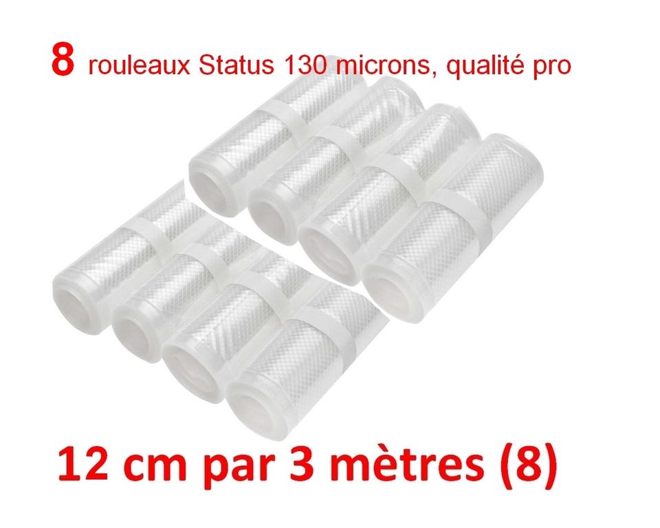8 rouleaux sous vide 13 cm