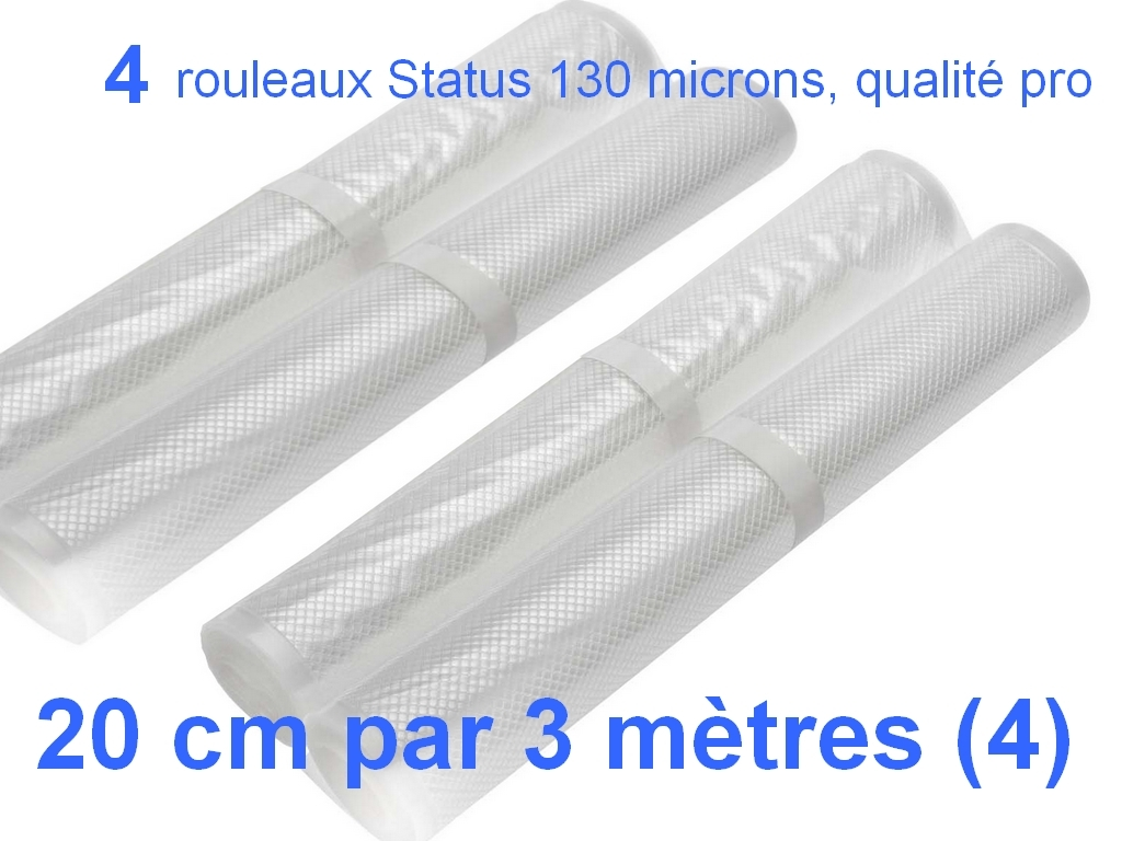 4 rouleaux sous vide 20 cm
