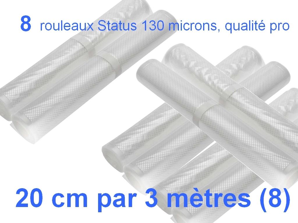 8 rouleaux sous vide 20 cm
