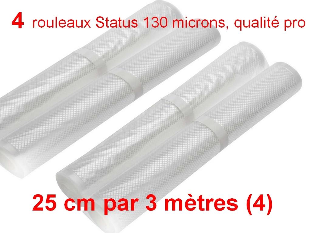 4 rouleaux sous vide 25 cm