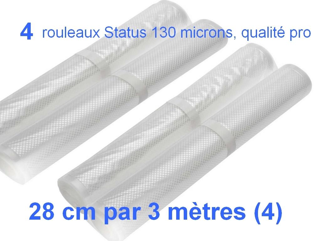 4 rouleaux sous vide 28 cm