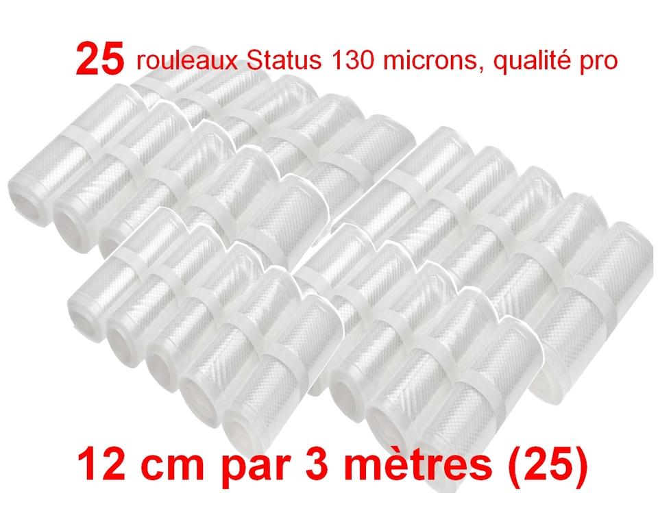 25 rouleaux sous vide 12 cm