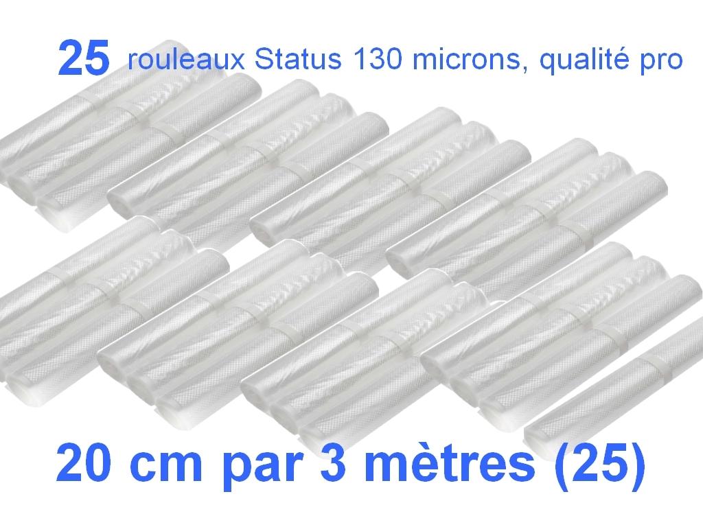25 rouleaux status 20 cm
