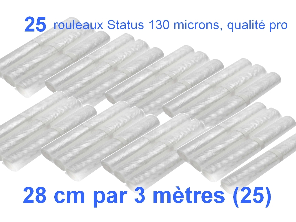 25 rouleaux status 28 cm