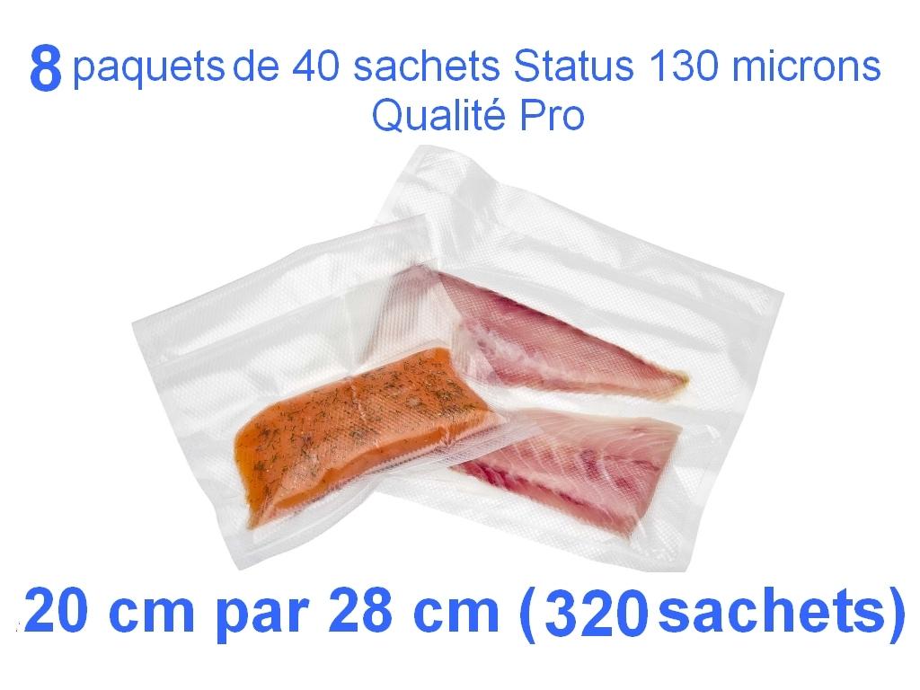 8 paquet 40 sachets status 20cm-28cm