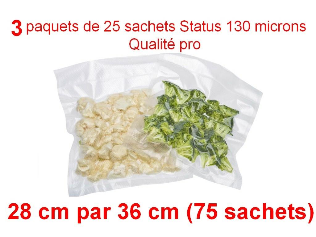 3 paquets 25 sachets status 28cm-36cm
