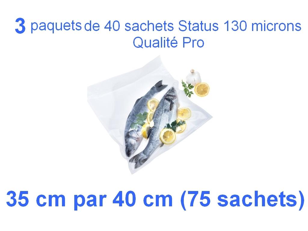 3 paquets 25 sachets status 35cm-40cm