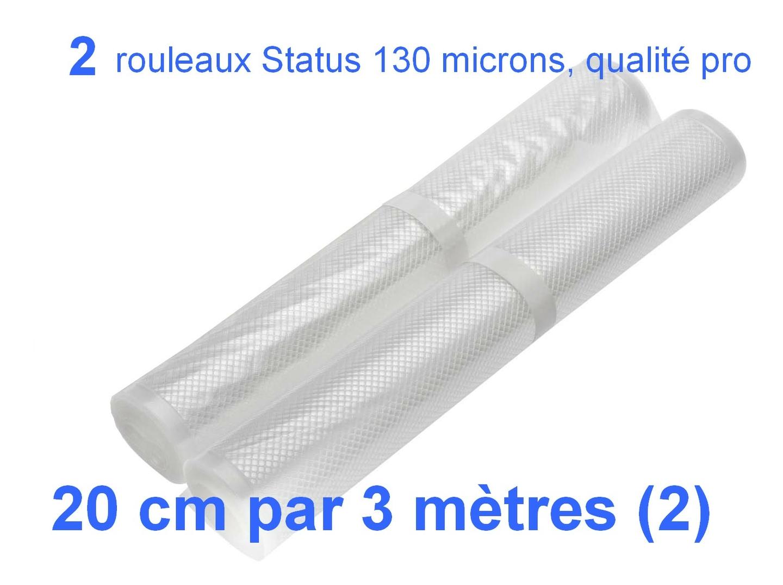 2 rouleaux sous vide 20 cm