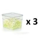 boite sous vide gastro pro 6 litres x 3