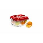 boite sous vide carrée 2 litres rouge