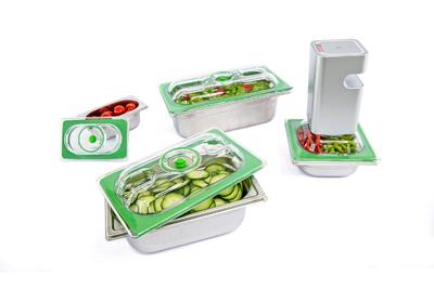 Gastronorm vacuum lids