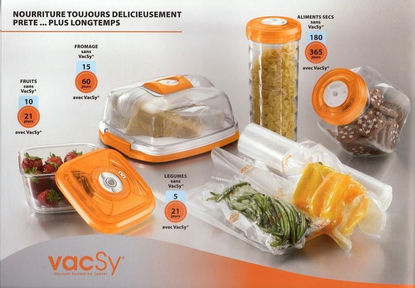 Bocal alimentaire sous vide vacsy 2 5 litres boites sous - Comment ranger la vaisselle dans la cuisine ...
