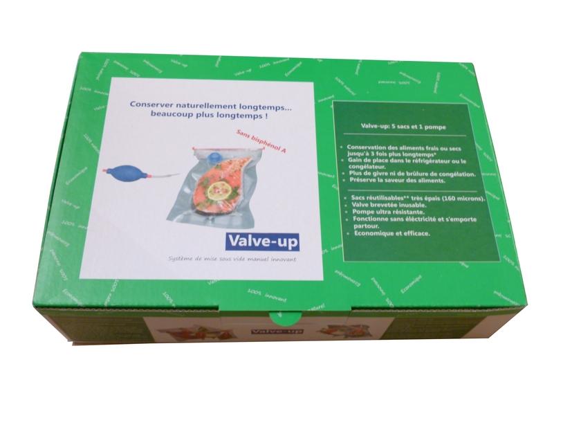 kit d couverte valve up 5 sacs conserver sous vide sous vide manuel avec sacs airblock. Black Bedroom Furniture Sets. Home Design Ideas