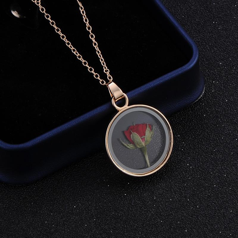 Collier Fleur Rose Séchée